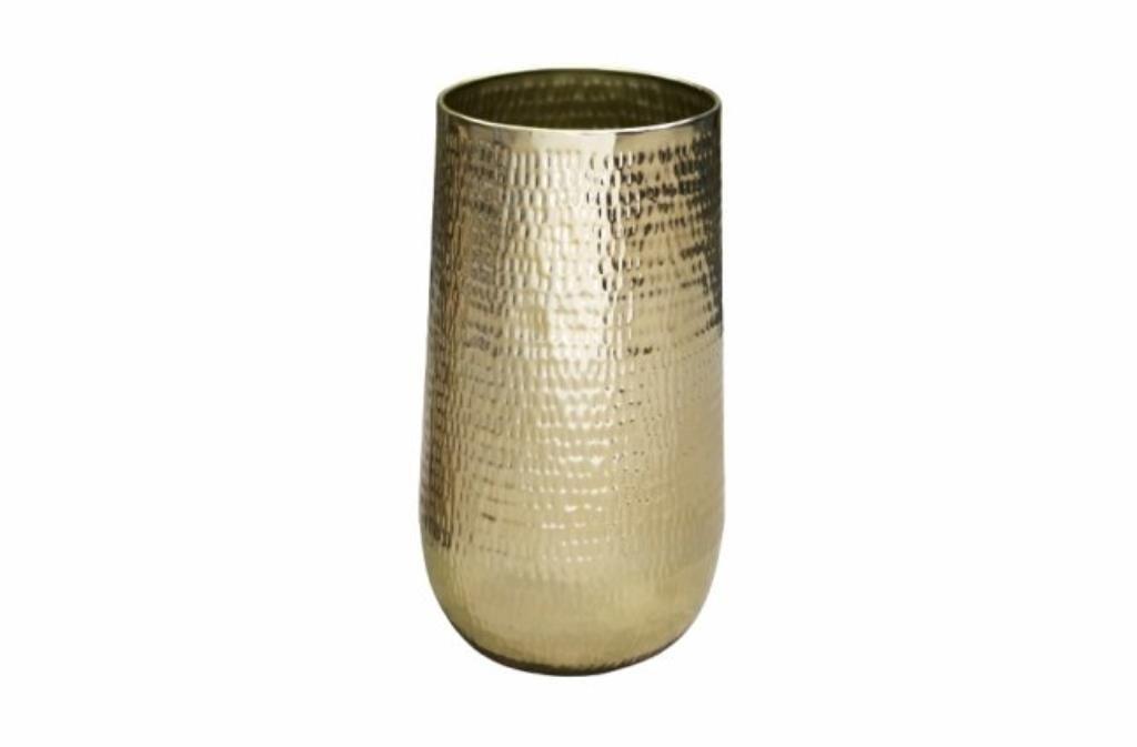 Cachepot de Metal Artesanal Ouro Indiano Jenna 41x68cm