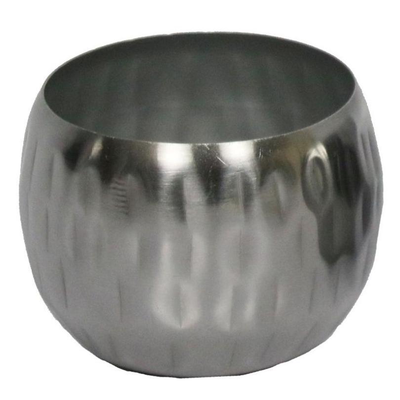 Cachepot de Metal Artesanal Prata Indiano Bia 7x5cm
