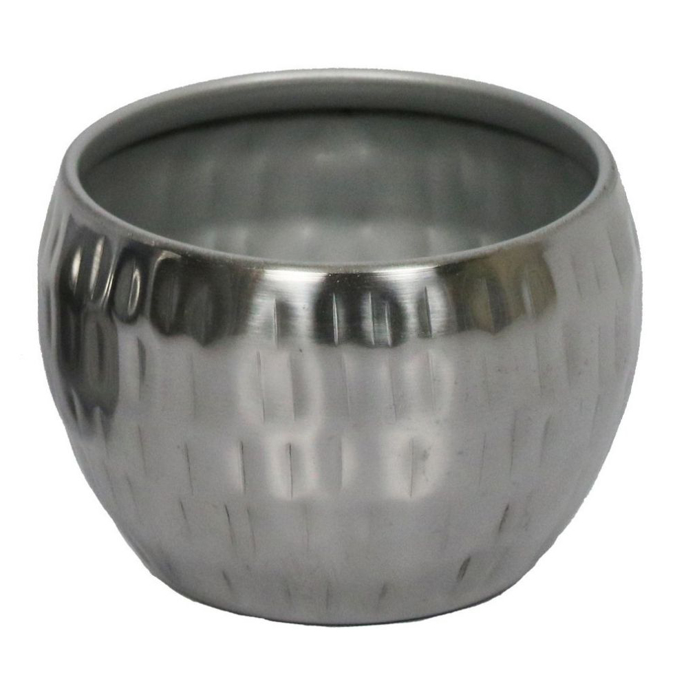 Cachepot de Metal Artesanal Prata Indiano Bia 9x7cm