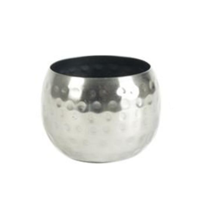 Cachepot de Metal Artesanal Prata Indiano Kody 7x5cm