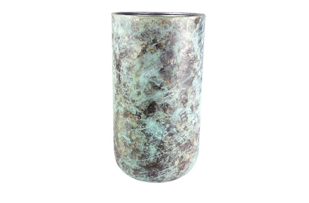 Cachepot de Metal Verde Indiano Elisa 39x68cm