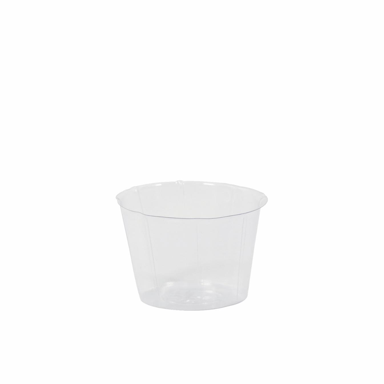Cachepot de Plástico Transparente Inlay 13x09cm