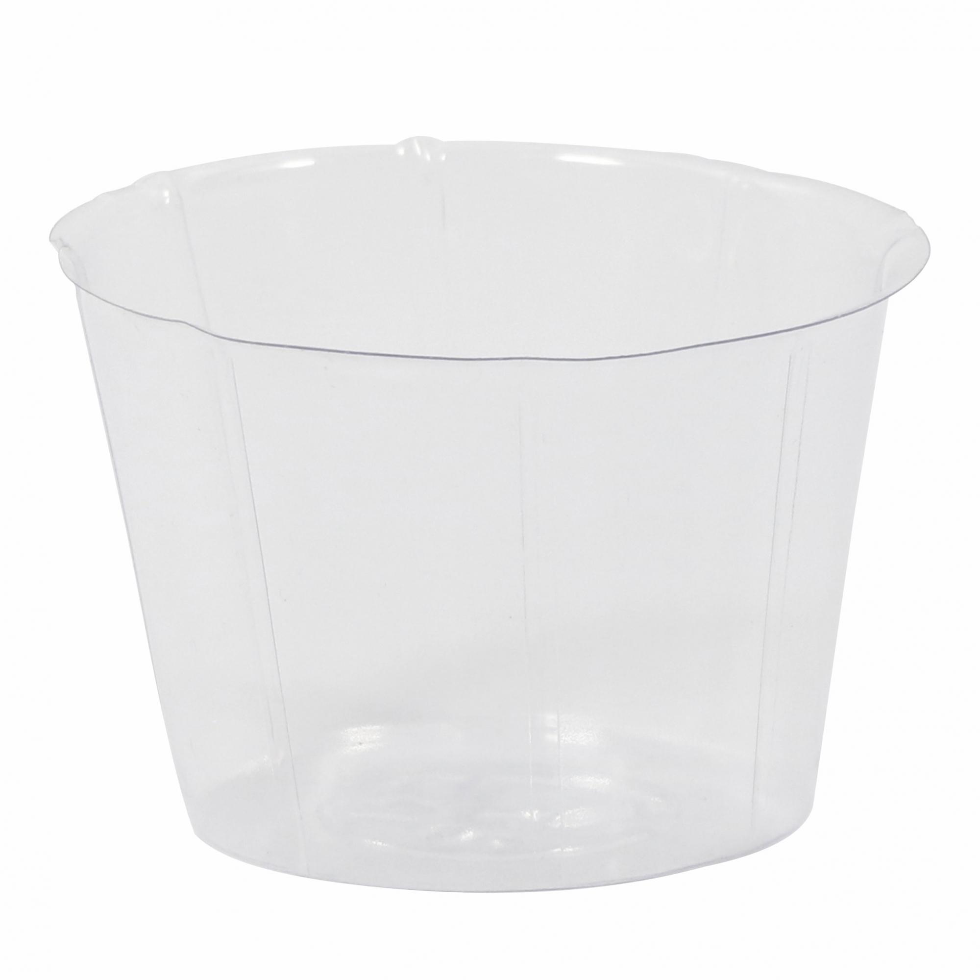 Cachepot de Plástico Transparente Inlay 15x10cm