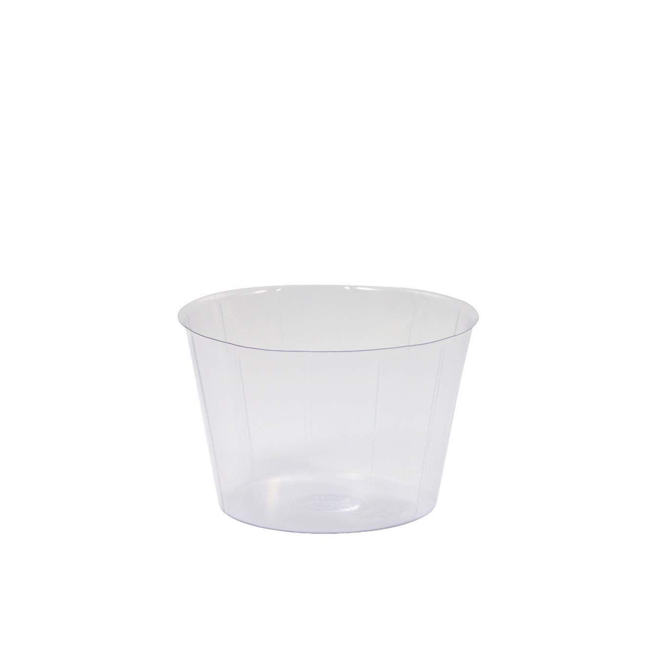 Cachepot de Plástico Transparente Inlay 20x13cm