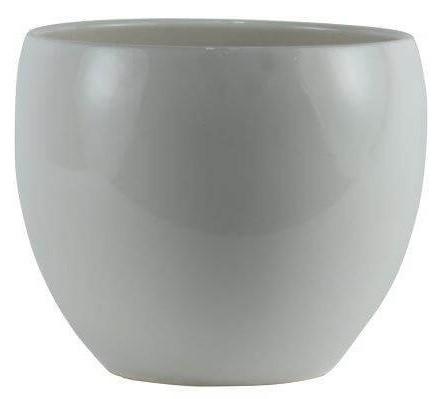 Cachepot de Cerâmica Branco Artesanal Holandês Lorance 15cmx13cm