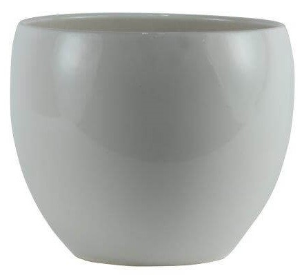 Cachepot de Cerâmica Branco Holandês Lorance 15x13cm