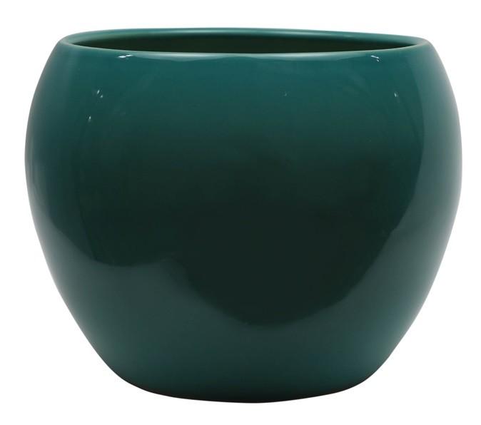 Cachepot de Cerâmica Verde Artesanal Holandês Lorance 19x15cm