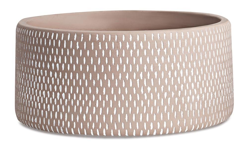 Cachepot Textura Em Cimento - Dimensões  11cm x 24 cm Cor: Nude