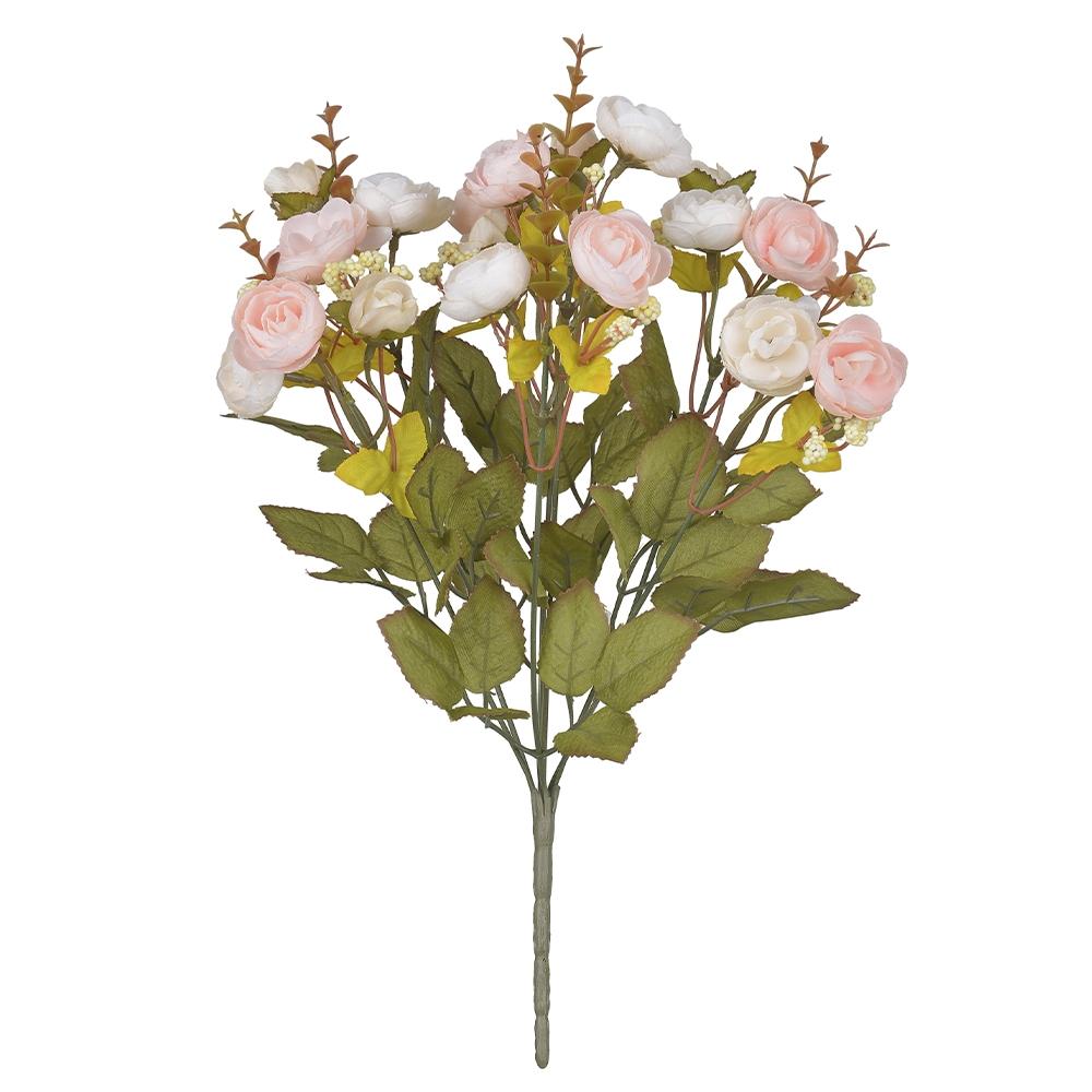 Buquê de Rosas Rosa Claro Permanente 37cm
