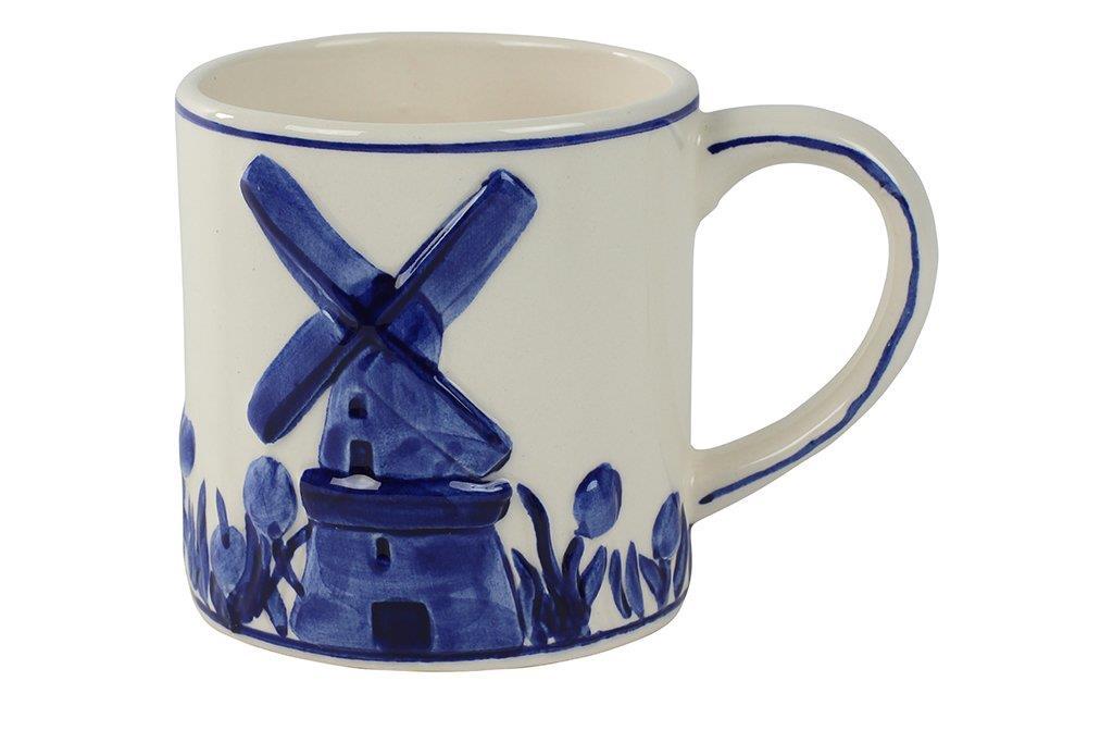 Caneca Moinho de Cerâmica Azul Holandesa 250ml