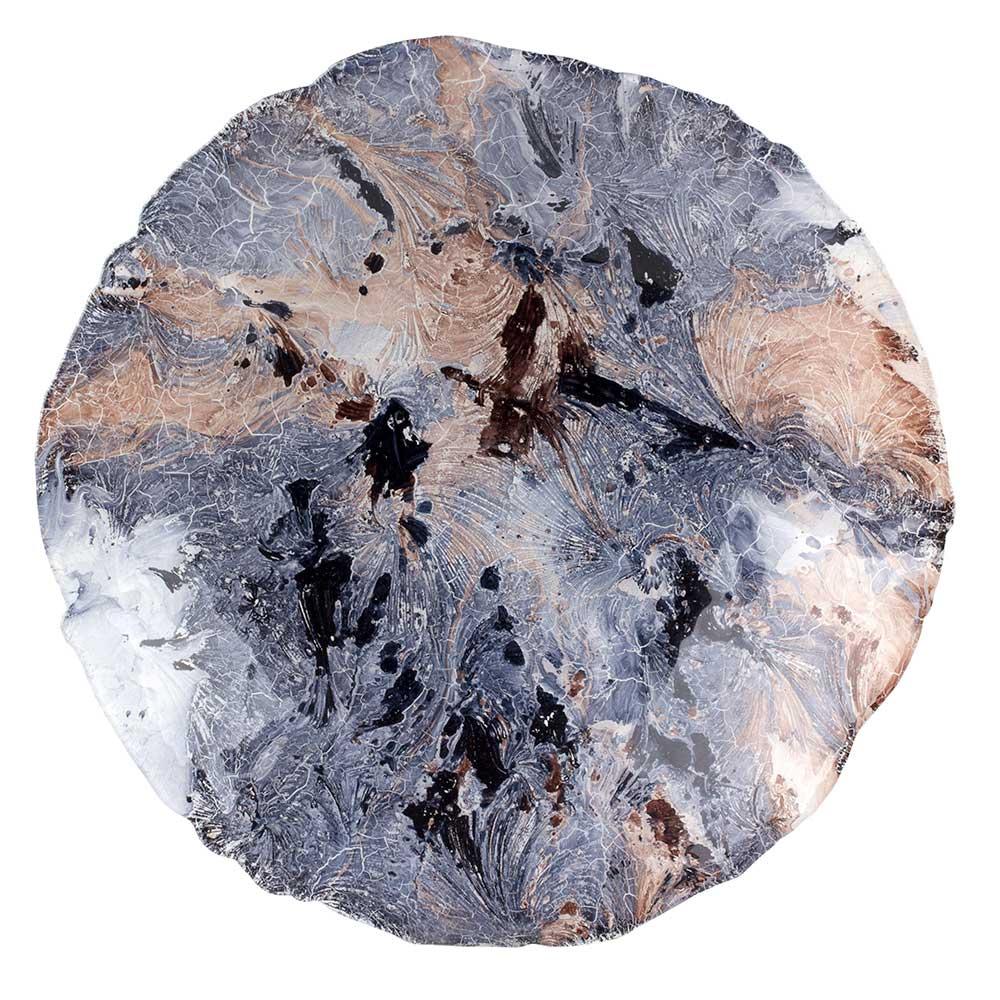 Centro de Mesa em Vidro Azul 40X8cm