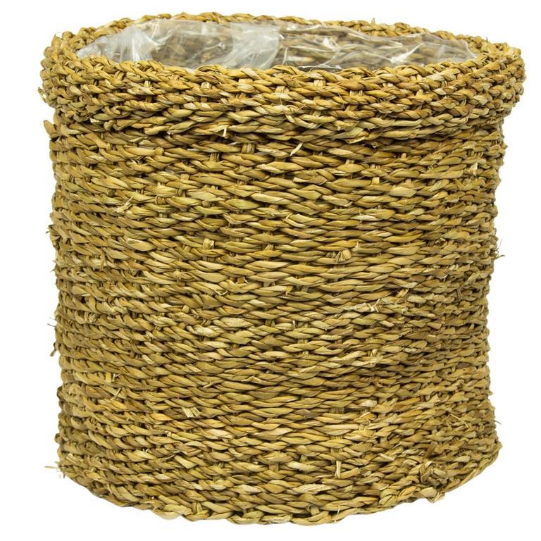Cesto de Seagrass Artesanal Natural Bror 24x27cm