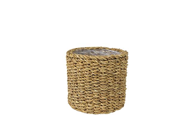 Cesto de Seagrass Artesanal Natural Ido 13x15cm