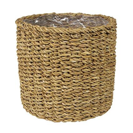 Cesto de Seagrass Artesanal Natural Ido 17x18cm
