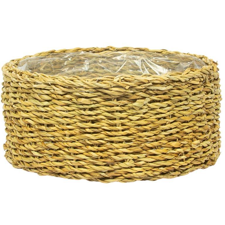 Cesto de Seagrass Artesanal Natural Ido 20x09cm
