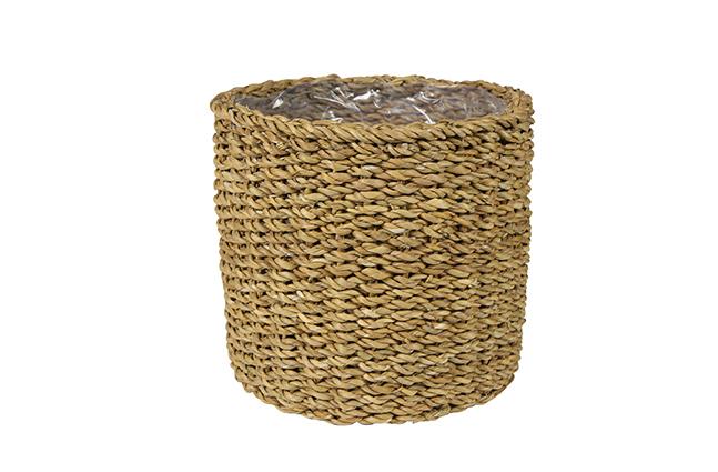 Cesto de Seagrass Artesanal Natural Ido 21x22cm