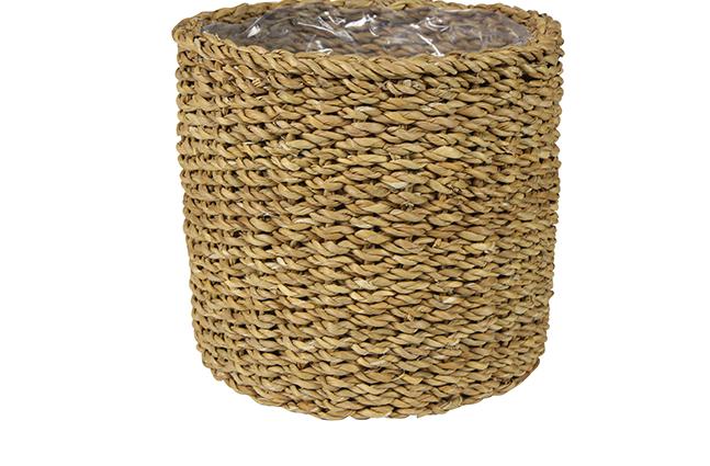 Cesto de Seagrass Artesanal Natural Ido 29x26cm