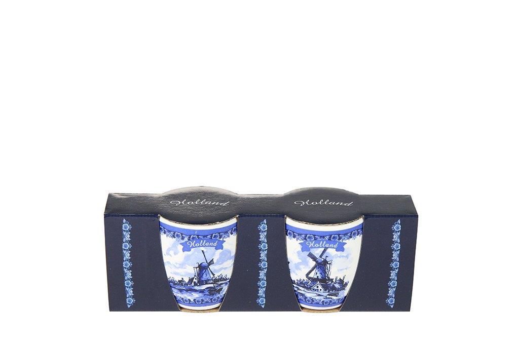 Conjunto de 2 Canecas de Cerâmica Azul Holandesa