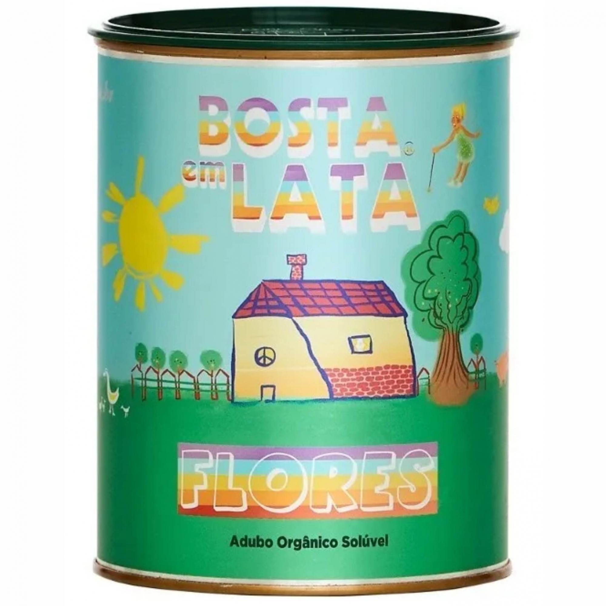 Fertilizante Organico p/Horta Bosta em Lata 500g