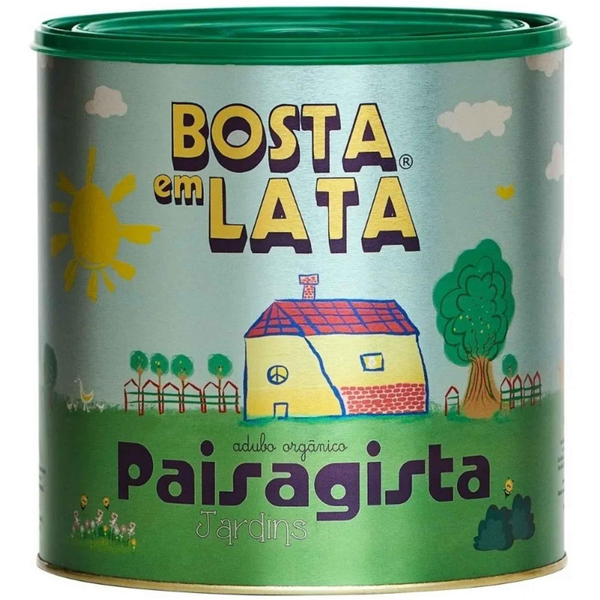 Fertilizante Organico p/Jardim Bosta em Lata 2,3kg