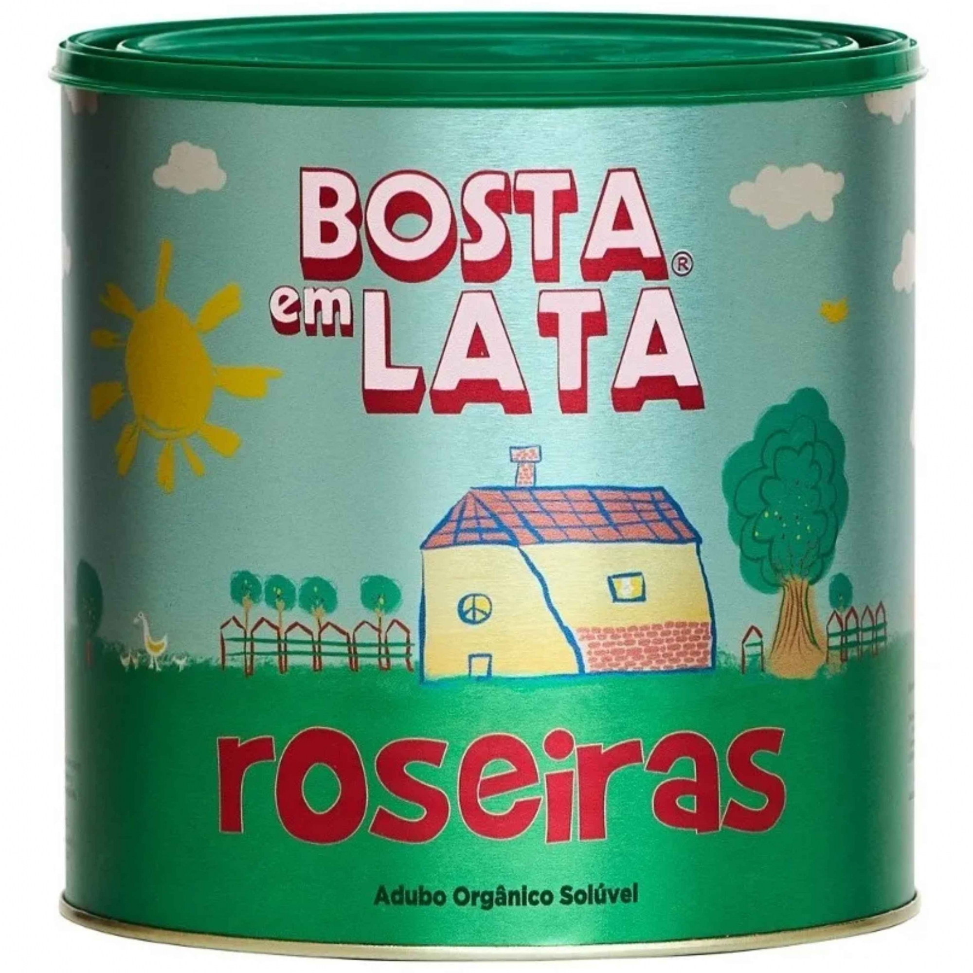 Fertilizante Organico p/Roseiras Bosta em Lata 1,8kg