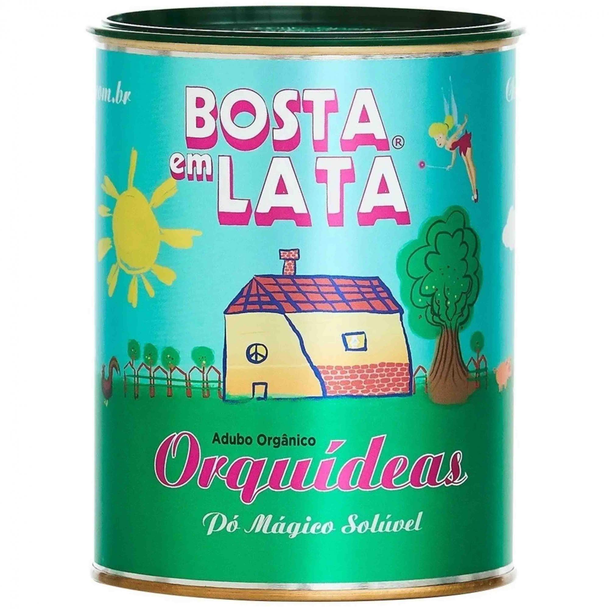 Fertilizante Organico Soluvel p/Orquideas Bosta em Lata 400g