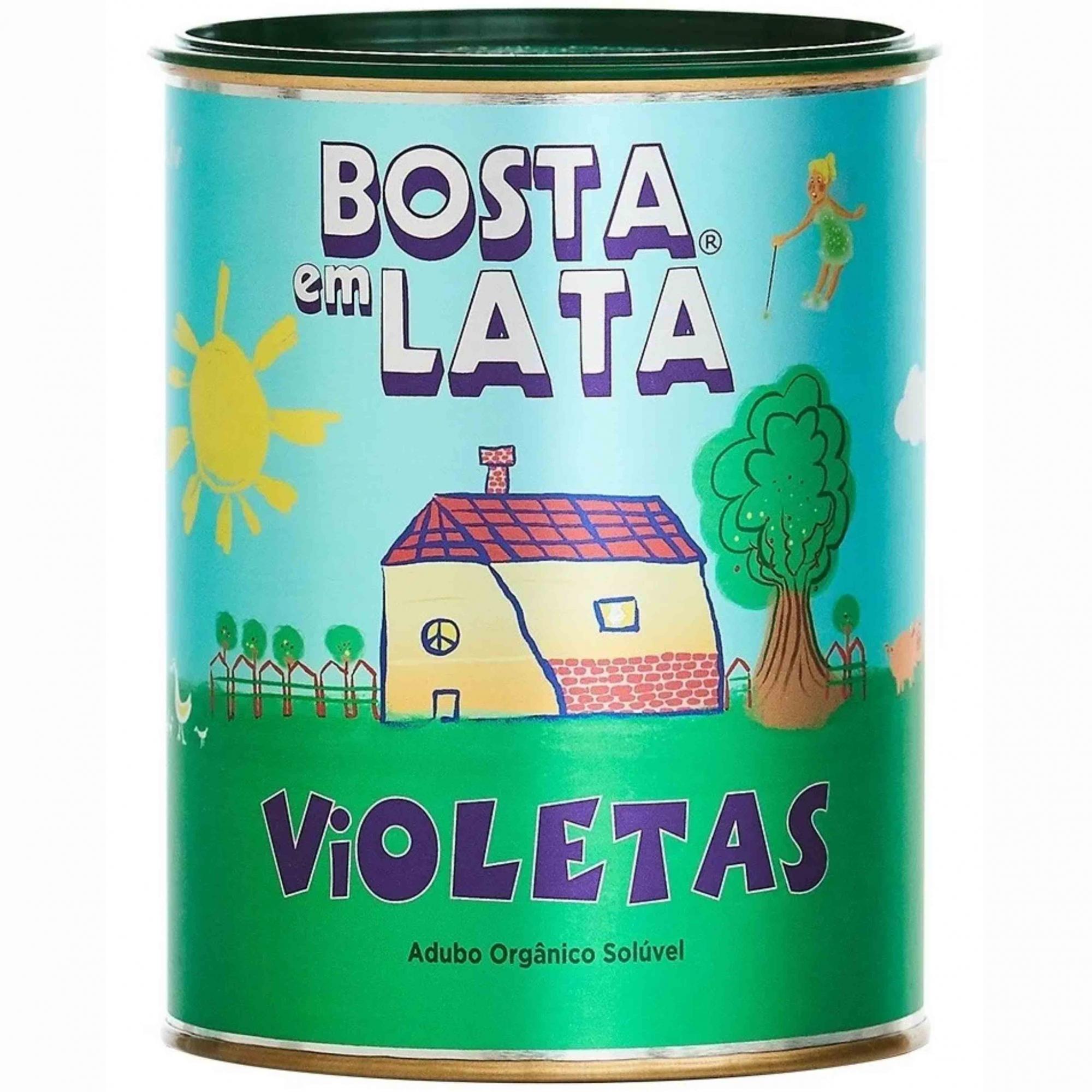 Fertilizante Organico Soluvel p/Violetas Bosta em Lata 400g
