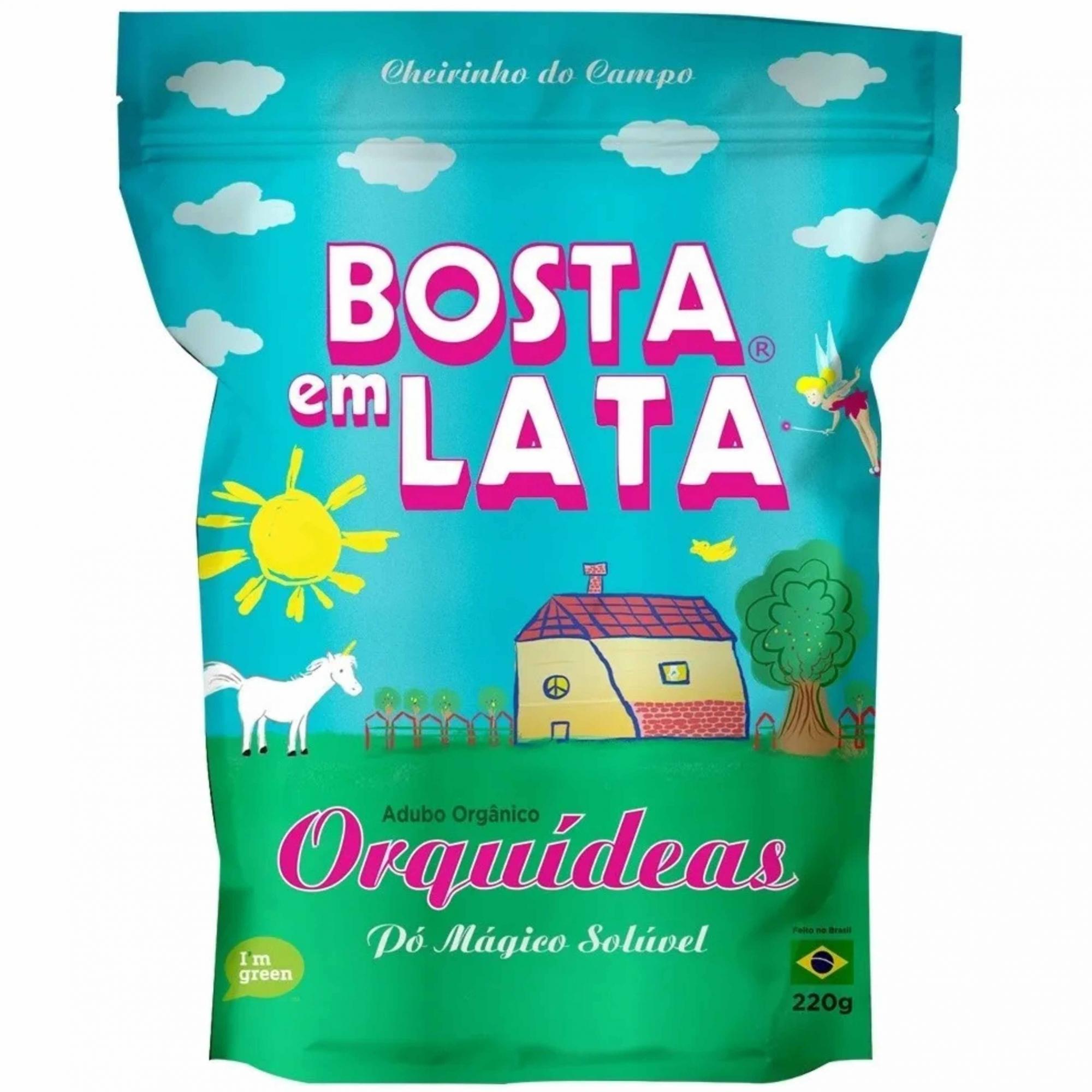 Fertilizante Organico Soluvel Zip p/Orquideas Bosta em Lata 220g