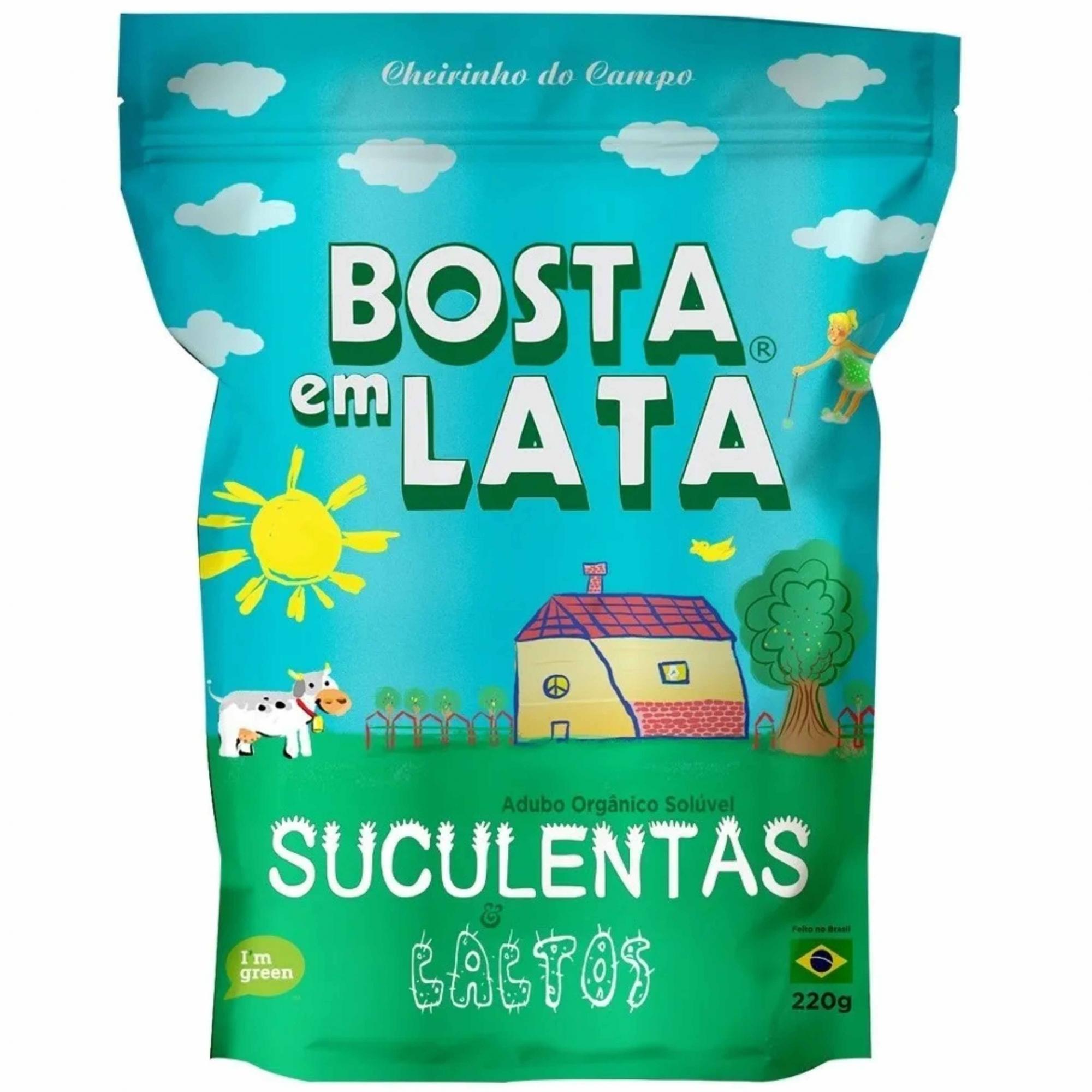 Fertilizante Organico Soluvel Zip p/Suculentas Bosta em Lata 220g