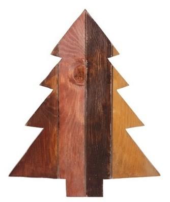 Figura Árvore de Natal de Madeira Artesanal Roots Warm