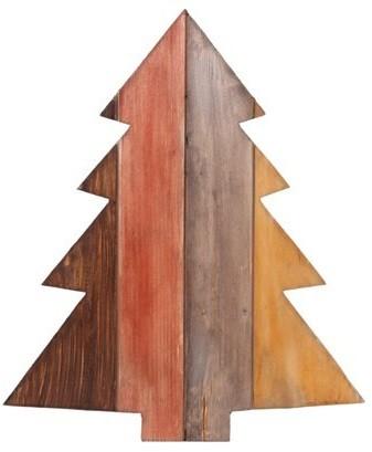 Figura Árvore Natal de madeira (Roots) Warm A42 Cor: Marrom