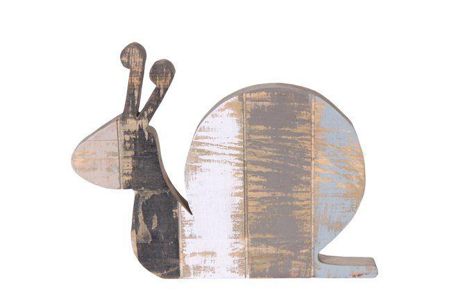 Figura Caracol de madeira (Roots) Calm D32 A25 Cor: Cinza