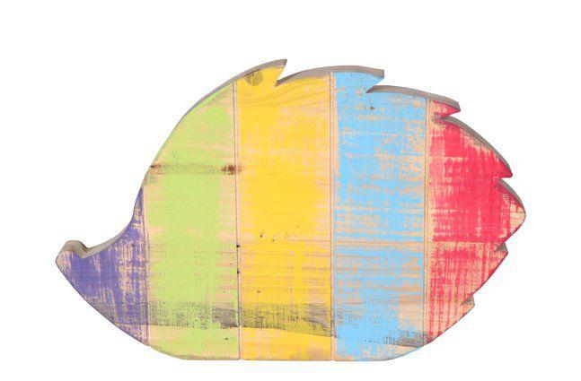 Figura Porco Espinho de madeira (Roots) Joy D30 A25 Cor: Multicolor