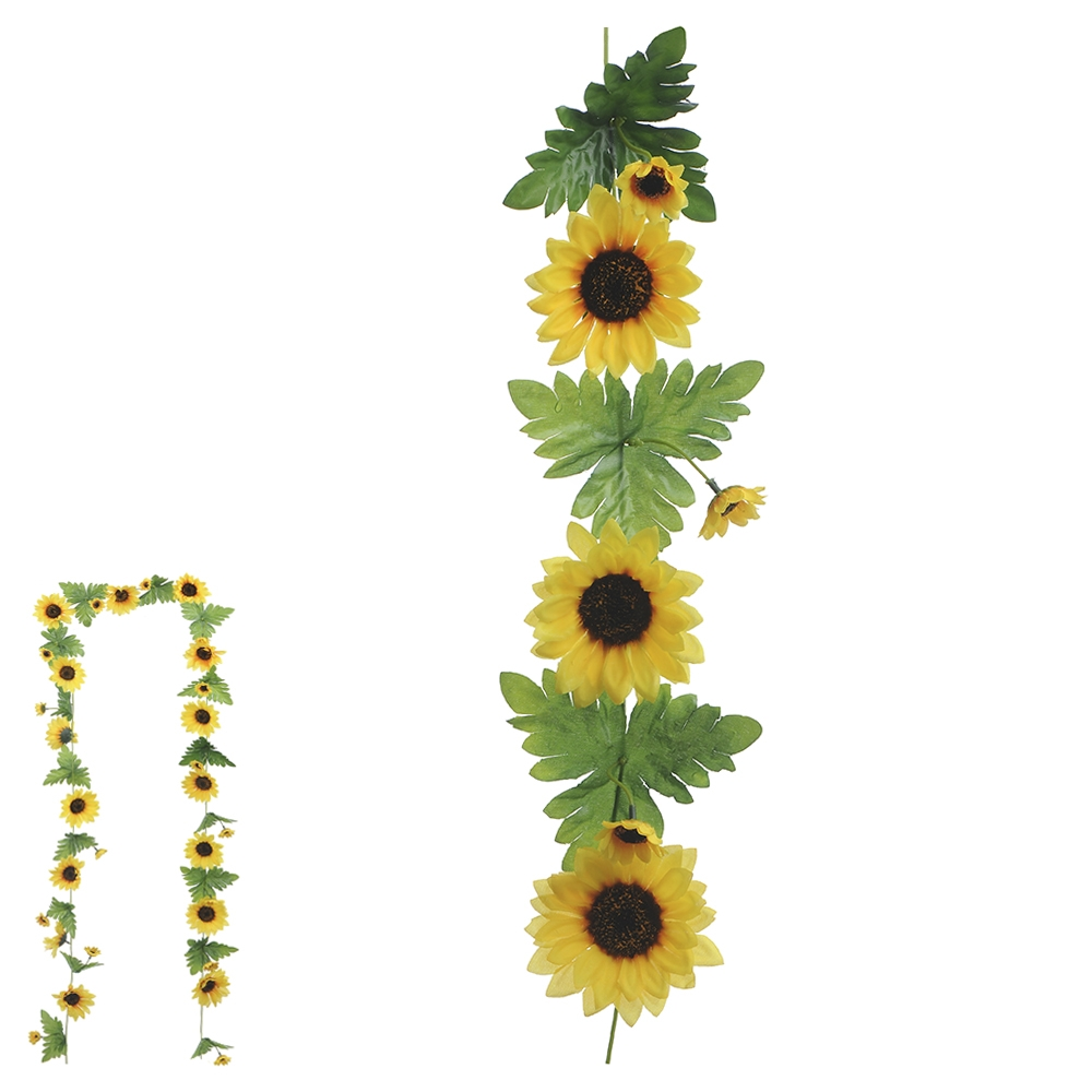 Folhagem de Girassol Amarelo Permanente 2,71m