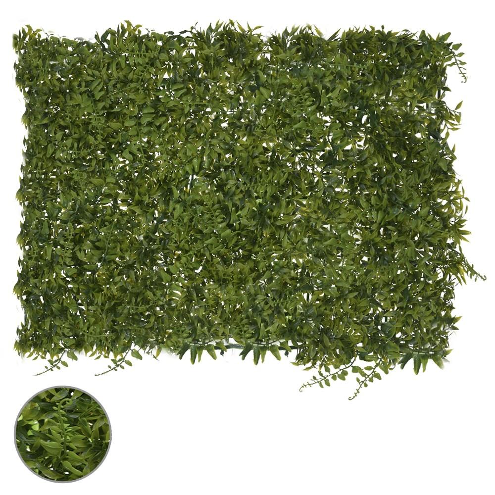 Folhagem de Grama Verde Escuro Permanente 40x60cm