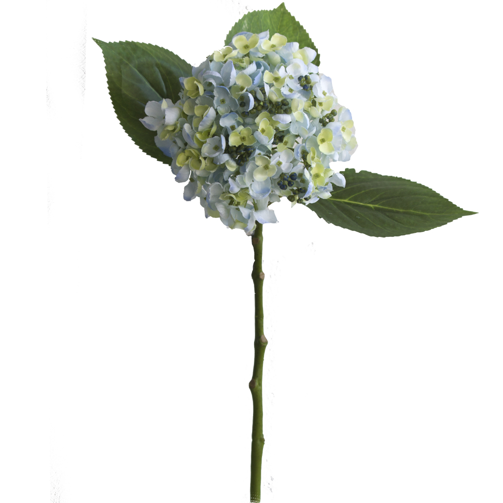 Haste de Hortência Azul Claro Permanente 49cm