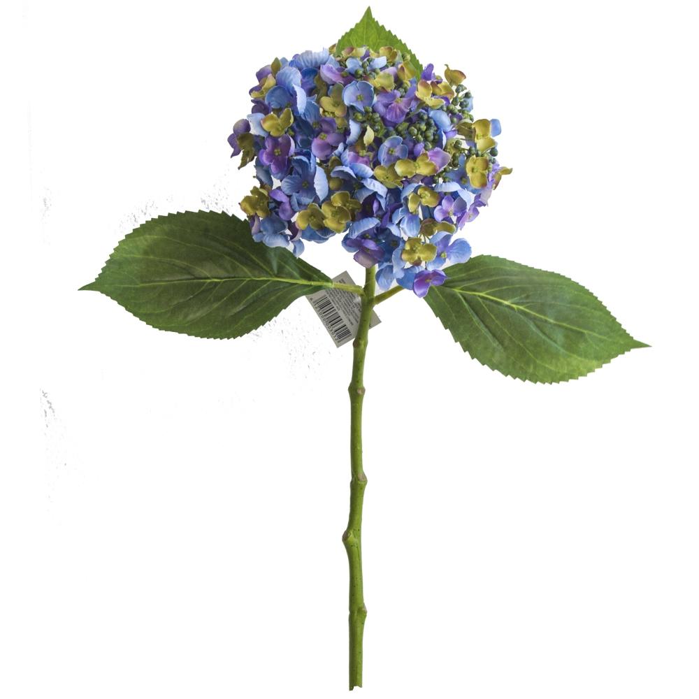 Haste de Hortência Azul Escuro Permanente 49cm