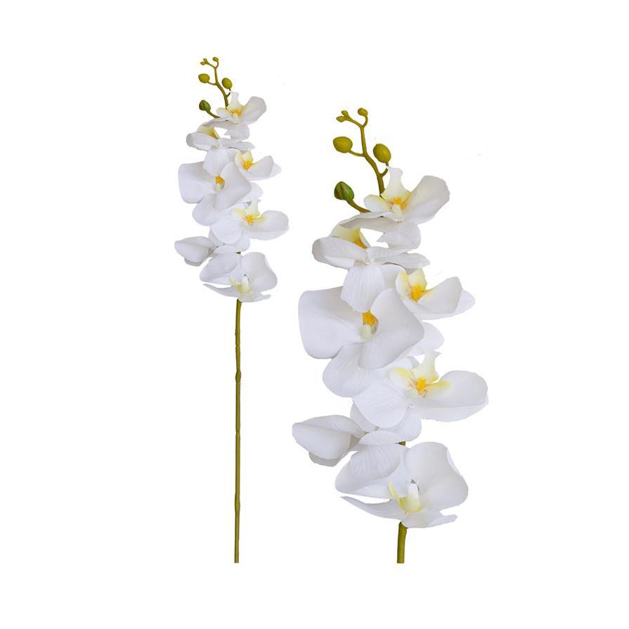 Haste de Orquídea Branca Permanente 92cm