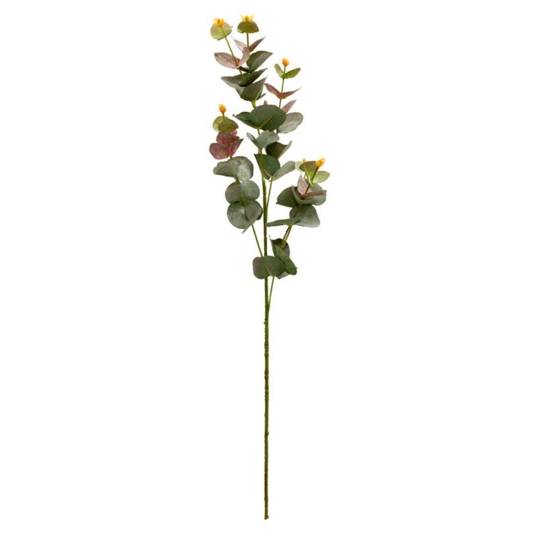 Folhagem de Eucalipto Rosa Outono Permanente 84cm