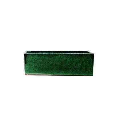 Jardineira de Cerâmica Verde Jade Amfa 60x21x20cm