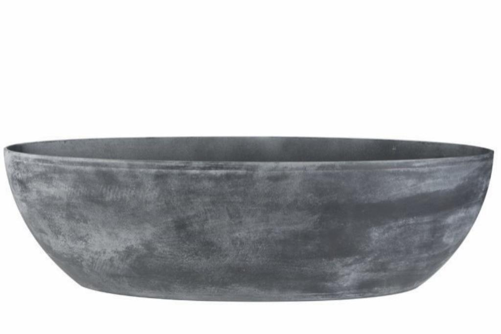 Jardineira de Pedra Artificial Cinza Mesclado Naomi 100x35x30cm