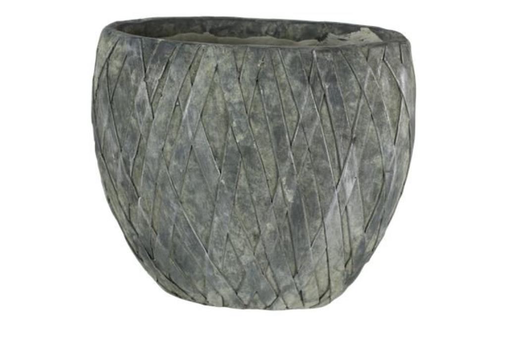 Jardineira de Cimento Cinza Sterre Silver 32x17x28cm