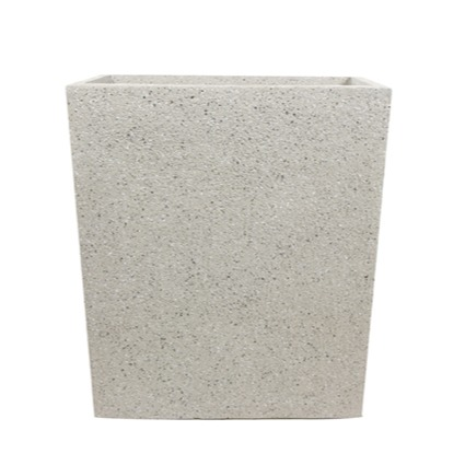 Vaso  de Fibrocimento Preto Artesanal Ivo 44x22x60cm