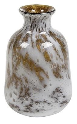 Vaso de Vidro Amarelo Mostarda Artesanal Aya 17x26cm