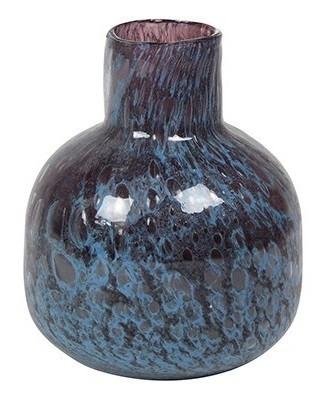 Vaso de Vidro Azul Tanzanita Liz 12x16cm