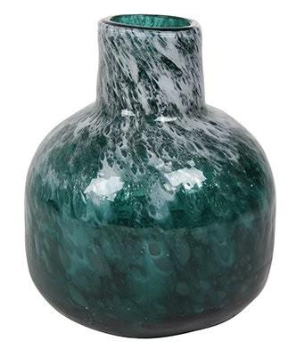 Vaso de Vidro Azul Oceano Liz 16x19cm