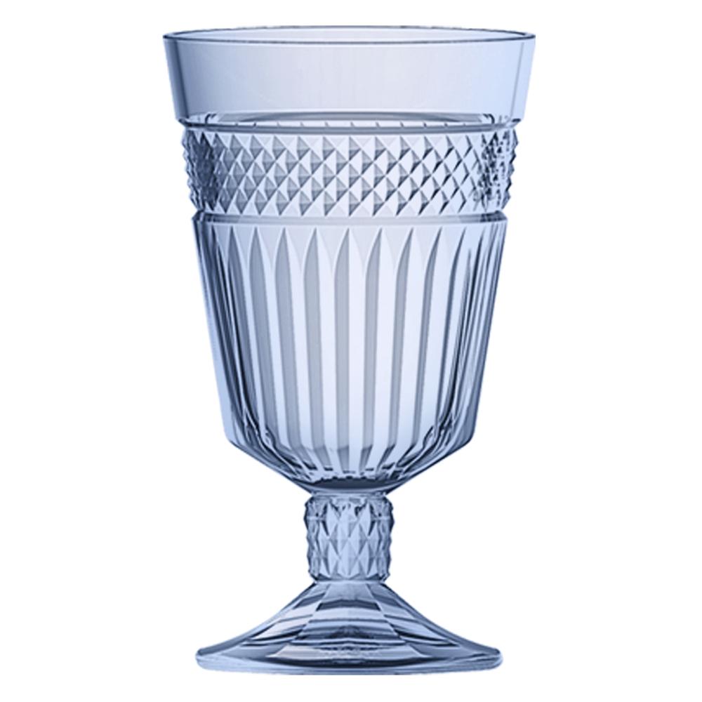 Jogo de 6 Taças de Vidro Palace Azul 15cm 330ml