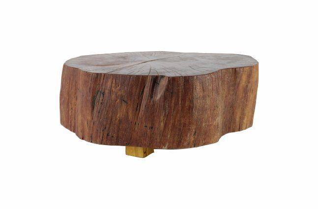 Mesa Tronco -  aproximadamente  60cm x 20cm Cor: madeira
