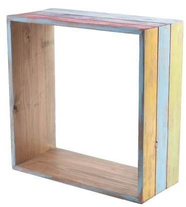 Nicho de madeira (Roots) Joy -  35cm x 35cm Cor: Multicolor