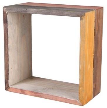 Nicho de madeira (Roots) Warm -  35cm x 35cm Cor: Marrom